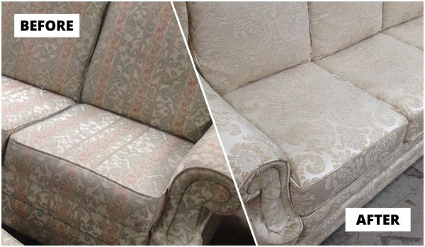 Sofa reupholstery project for customer